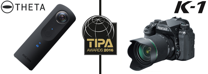 Ricoh Theta S and Pentax K-1 Win TIPA 2016 Awards