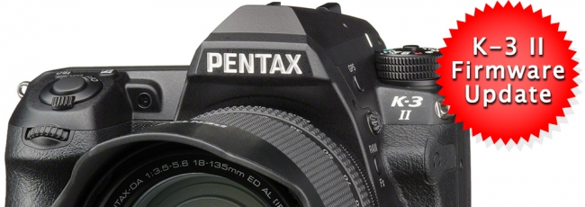 Pentax K-3 II Firmware v1.10 Released