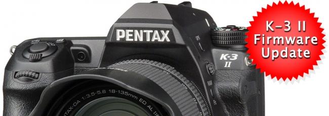 Pentax K-3 II Firmware v1.10 Released