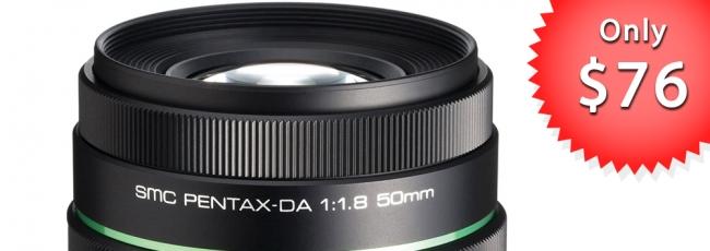 DA 50mm F1.8 Just $76