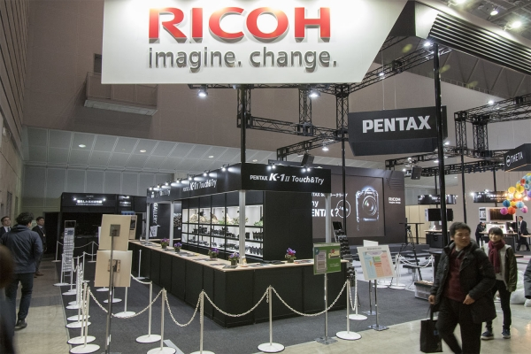Pentax side of the booth