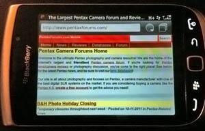 PentaxForums.com mobile site