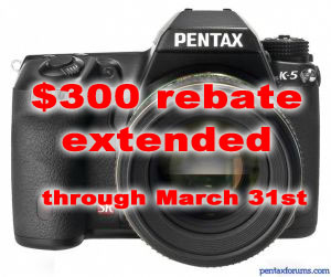 Pentax Extends K-5 Instant Rebate