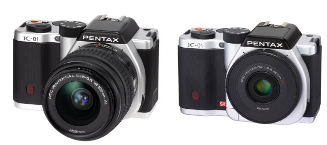 Pentax K-01 with new 40mm and 18-55mm lens