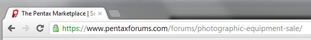 PentaxForums HTTPS