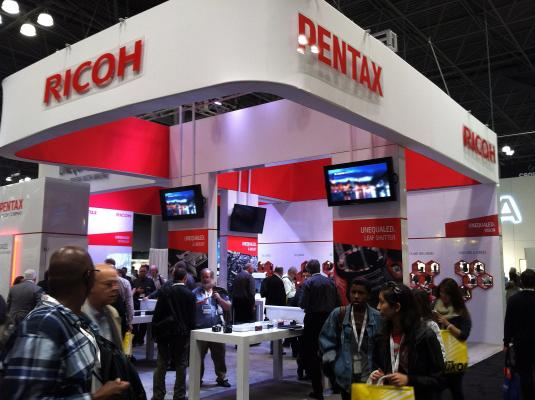 Pentax Ricoh Booth at PhotoPlus 2012