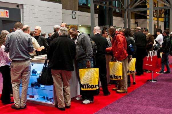 Pentax Ricoh Booth at PhotoPlus 2011