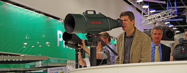 Sigma 200-500mm Lens at Photokina