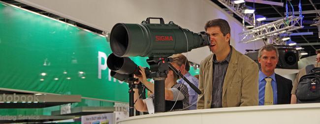 Sigma 200-500mm Lens at Photokina