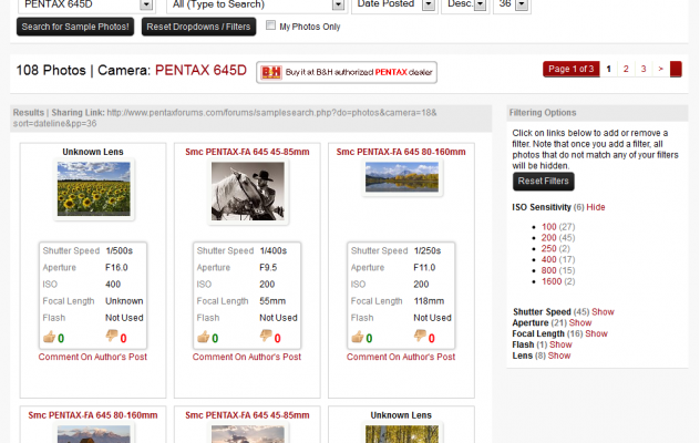 Pentax Sample Photo Search System