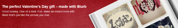 Save 20% on Blurb Books for Valentine's Day