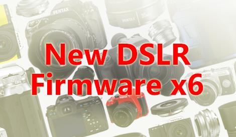New K-r, K-01, K-30,  K-5, and K-5 II/IIs Firmware