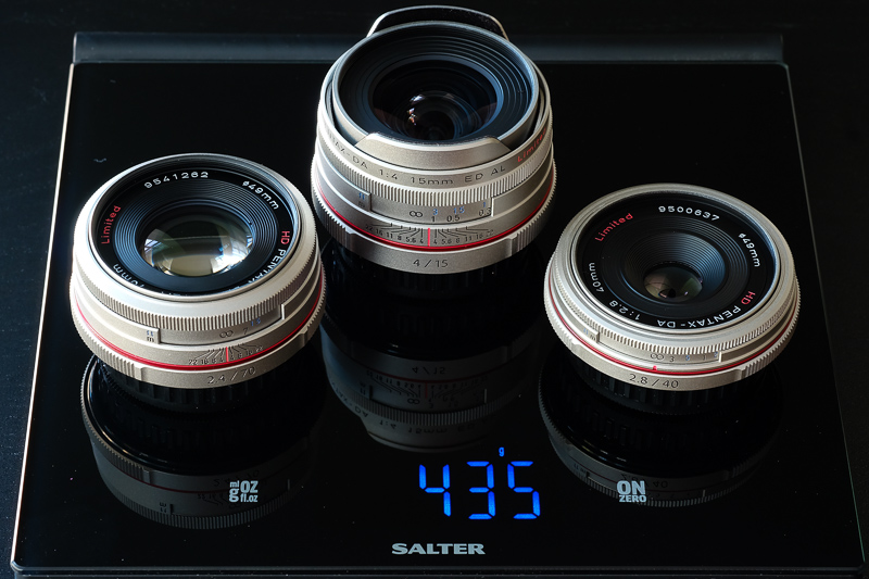 Three Lenses, Under 1lb.