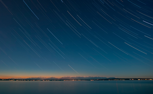 Star Trails over the Olympic Mountains