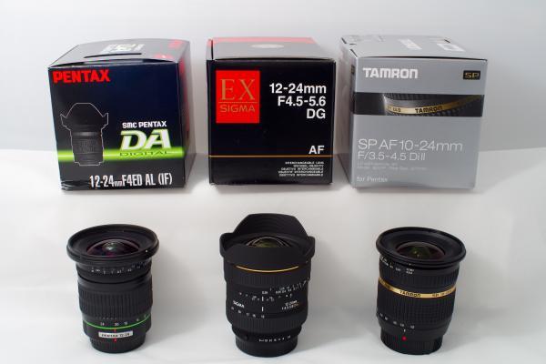 Pentax DA 12-24, Sigma 12-24 and Tamrom 10-24