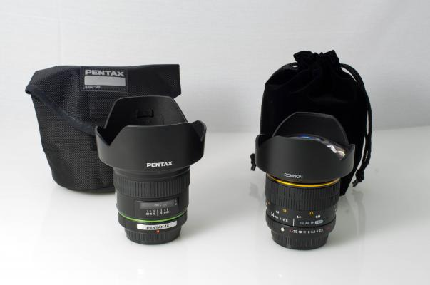 Pentax 14mm and Rokinon 14mm