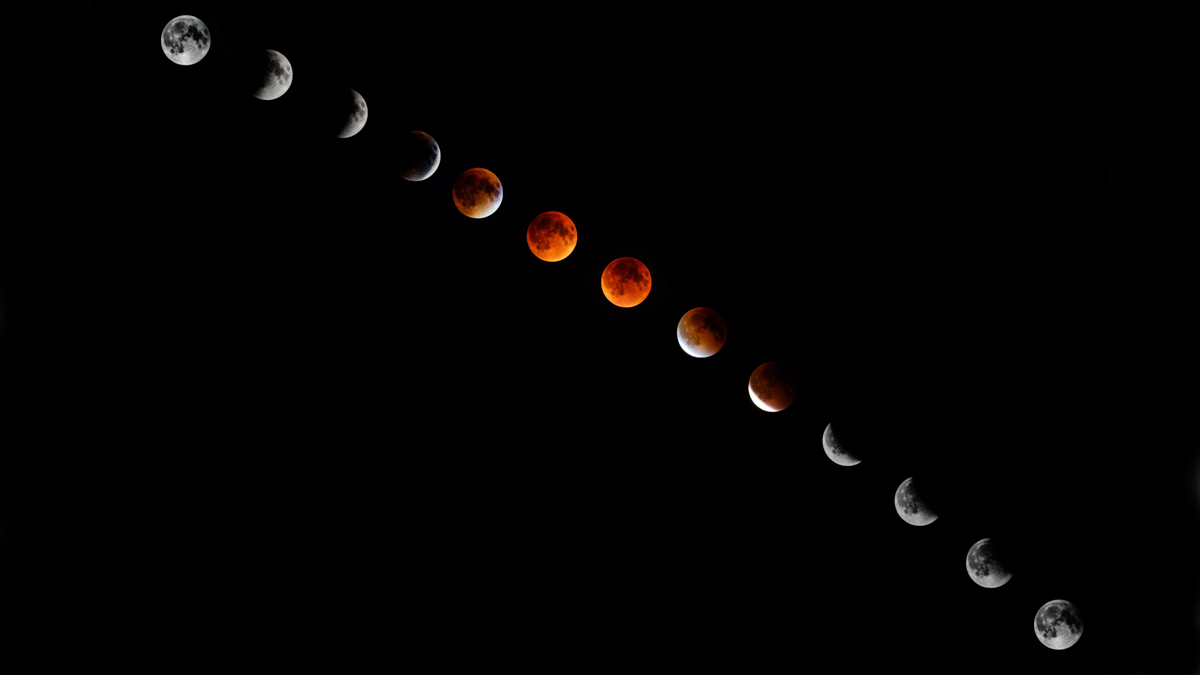 Slow (III) - total lunar eclipse (Blood Moon) over Europe (SMC Pentax-A 400/5.6 and K3 II)