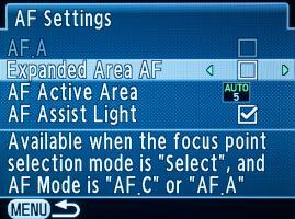 K-50 PDAF modes
