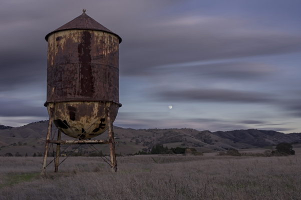 Moon Rise Water Tower
