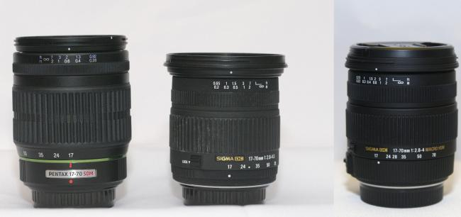 Pentax 17-70mm F4 vs Sigma 17-70mm Lenses