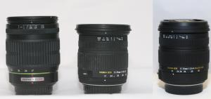 Old Sigma 17-70mm's and Pentax 17-70mm Comparison