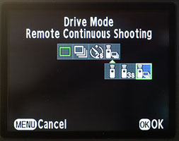 Drive Mode Menu