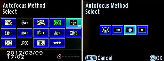 Control Panel Autofocus