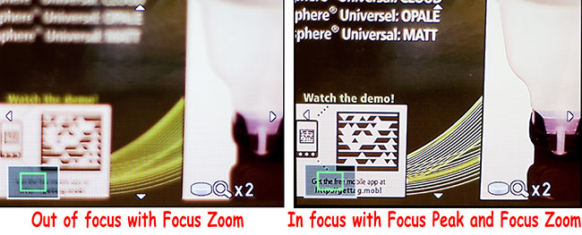 focus peak and focus zoom