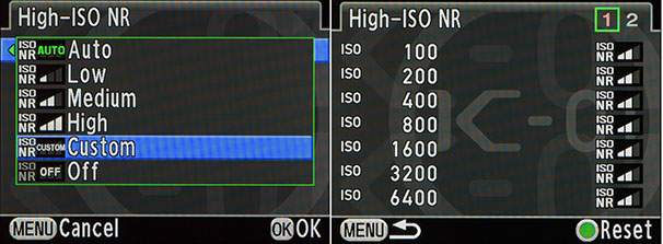 custom high iso nr settings