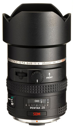 Pentax-D FA 25mm F4 lens