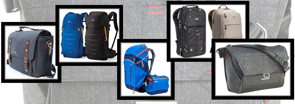 Think Tank, Peak Design, Mindshift Gear, and Lowepro Bags