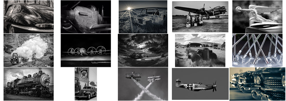 """September """"Cars, Trucks, Planes, Trains in Monochrome"""" Contest Finalists Announced"""