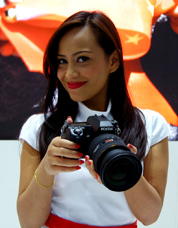 From the Sigma Booth- A Pentax Model!