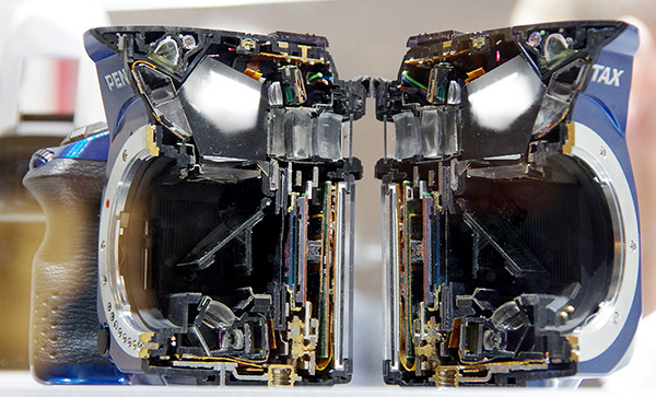Pentax K-30 vs K-5 IIs Cross Sections