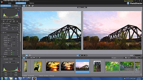 Making the Rails with Photo Director 2011