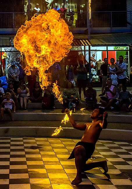 Fire and native dancing