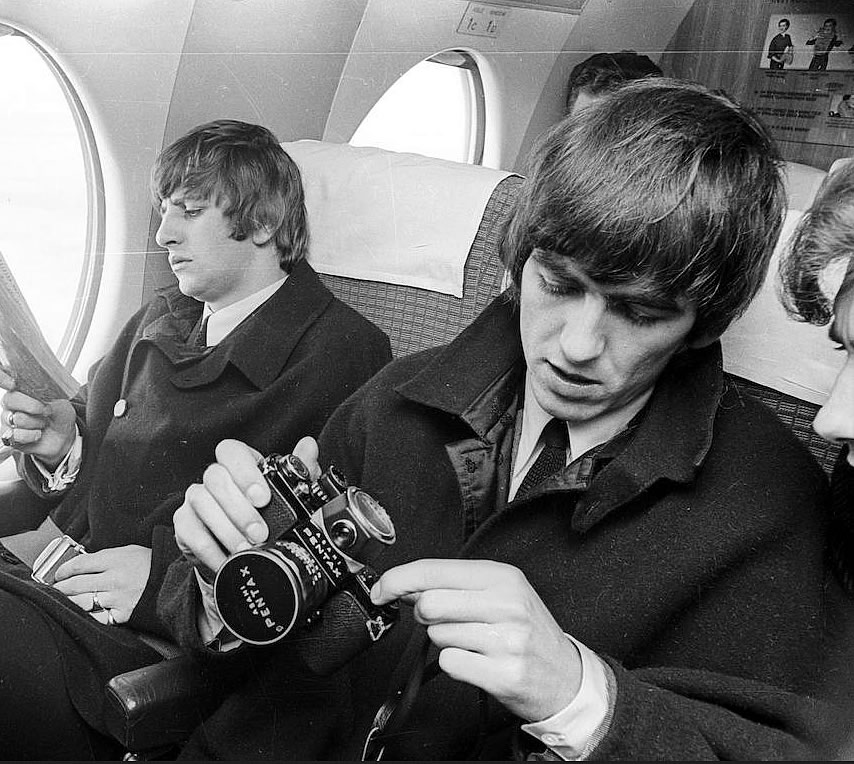George Harrison and Pentax S1A