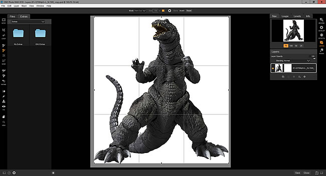 Godzilla with white background