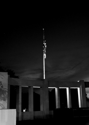 Flag and memorial, Dealey Plaza