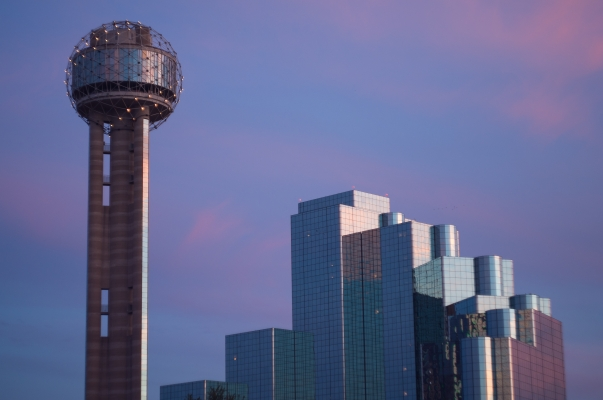 Reunion Tower and Hyatt Regency, Dallas, TX