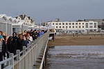 The new Pier  Our new pier finally opens to the public (The last one burnt down a couple of years ago!)  Seems to be very popular...