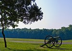 Cannon at Wilderness battlefield (Rt. 20 in background)