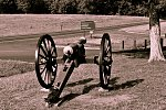 Cannon at Wilderness battlefield (old skool)