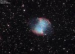 M27 Dumbbell Nebula : 1350 Light-years from Earth - apparent size : 8' × 5'.6 - Pentax Q10 + SkyGlow Filter + SkyWatcher 200/1000 Newton prime focus...