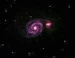 M51 Whirlpool Galaxy : ~27 Million Light-Years - apparent size : 6' x 9' - Magnitude minus Air- and Dust- and Light-Pollution is down to 10 ?? -...