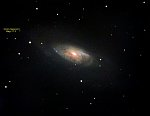 M-106 Galaxy : ~24 Million Light-Years - apparent core size : 2.5' x 6' - Magnitude minus Air- and Dust- and Light-Pollution worse than 10 ?? -...