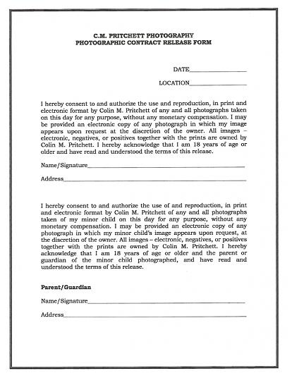 Doc585640 General Release Form General Release Form 7 Free – Photography Copyright Release Form