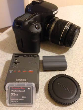Canon 40D with Canon EF-S 18-55 IS Lens + goodies