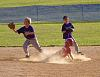 Young baseball action