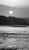 Scanned Black and White sunset